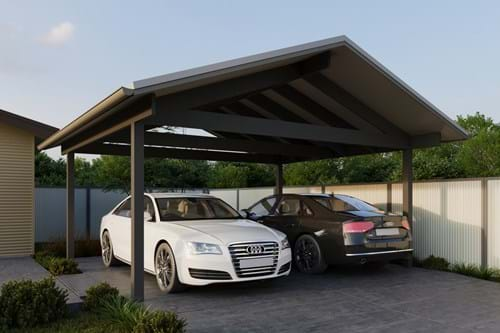 Download Double Carport Gable Roof