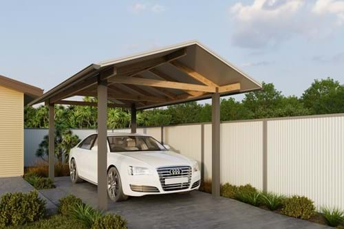 Download Single Carport Gable Roof - Exposed Finish