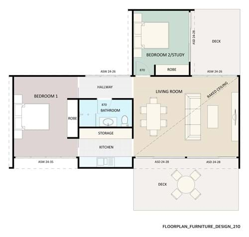 Floor Plan Furniture Design 210