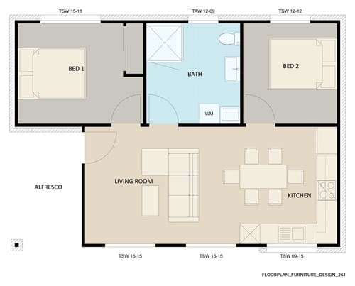 Floor Plan Furniture Design 261