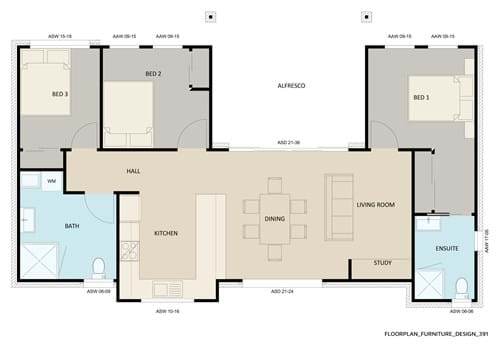Floor Plan Furniture Design 391